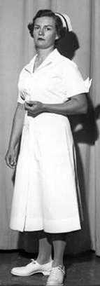 US Army Nurse Corps ward duty uniform, 1950s Fashion, Vintage Fashion, Vintage Style, Air Force Nurse, 50s Costume, Costumes, Nursing Shoes, Female Doctor, White Pumps