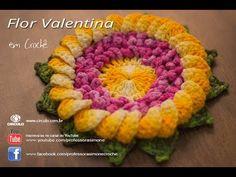 Flor Valentina de Crochê - Professora Simone