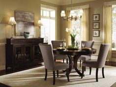 6-pc Alston Round Table Dining Room Set