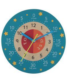 Teaching Clock - Blue