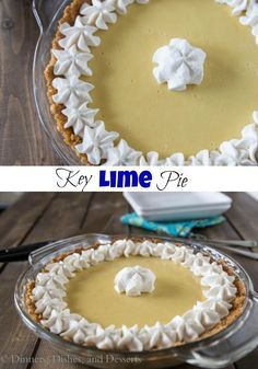 Key Lime Pie - Just 3 simple ingredients to make this delicious sweet tart and creamy pie! Key Lime Pie - Just 3 simple ingredients to make this delicious sweet tart and creamy pie! Tart Recipes, Best Dessert Recipes, Easy Desserts, Sweet Recipes, Delicious Desserts, Awesome Desserts, Summer Desserts, Recipes Dinner, Potato Recipes