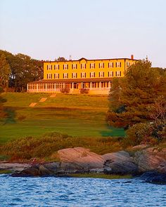 Chebeague Island Inn, Chebeague Island (chebeagueislandinn.com, 207-846-5155). When your party takes over its 21 rooms, you'll feel like you own the three-and-a-half-mile-long island on which it sits. Porches surround the restored 1880s structure, providing many vantage points for water views. And the wood-paneled dining room offers a grand setting for celebrating.