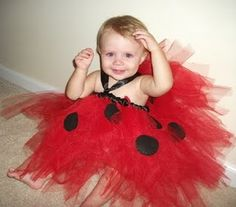 Miriam wants to be a lady bug for Halloween!  We will do the tutu a little different, but same concept!