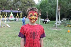 Iron Man Face Paint by Best Party Planner!