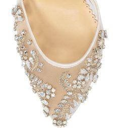 99b044e5ed Embellished Ivory Crystal Wedding Heels