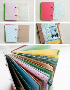 Mixed paper art journals to make your own journal! Would also be a great rainy day project for the kids!!