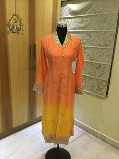 Silk tunic with gota pati border by cliffangel