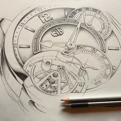 Drawing commissioned by Greubel Forsey watchmaking company #drawing #pencil…