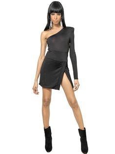 eaa1e7b4613a Viscose Wool Jersey Dress - Lyst Luxury Shop, Balmain, Florence, Florence  Italy