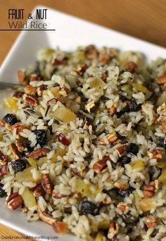 A great side dish for holidays or any entertaining at home - fruit-nut wild rice. Get the recipe here.
