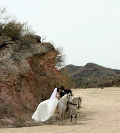 wedding and horses... love it