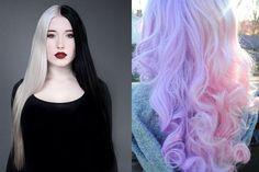 Que pensez-vous de cette tendance originale ?  #splithair #tendance #beauté #cheveux #coloration #original #beautyaddict #hairstyle #rainbowhair #monvanityideal