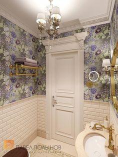 Фото интерьер санузла из проекта «Дизайн трехкомнатной квартиры 126 кв.м. в классическом стиле с винтажными элементами, ЖК «Пять звёзд»»
