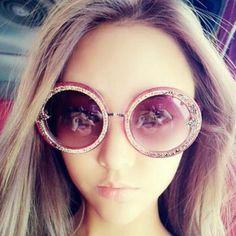 debf2c2b8264 Chic Round Bottom Sunglasses Flat Top Thick Frame. Circle SunglassesRound  SunglassesLace FlowersLensesRetro ...