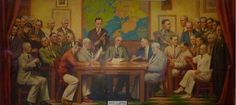 Gloucester City Hall WPA Murals City Council in Session before