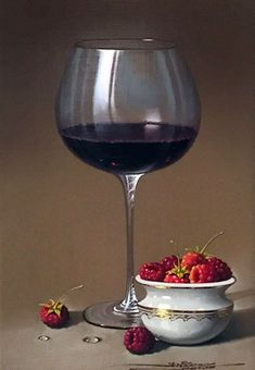 RED-WINE-AND-RASPBERRIES   - by Javier Mulió, known simply as Javier to collectors around the world