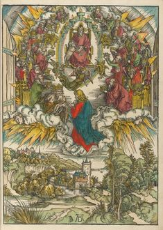 Albrecht Dürer llustration from Apocalipsis1498 | Typ Inc 2121A, Houghton Library, Harvard University