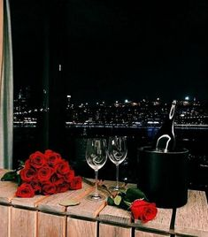 romantic, rose, and wine image Romantic Surprise, Romantic Night, Romantic Dinners, Romantic Gifts, Luxe Life, Tumblr, Fancy, Wine, Drinks