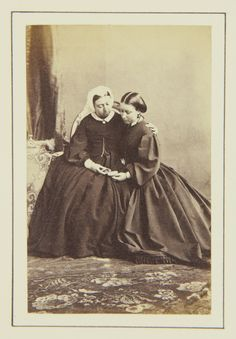 Queen Victoria and Princess Helena, 1862 [in Portraits of Royal Children Vol.6 1862-1863] | Royal Collection Trust