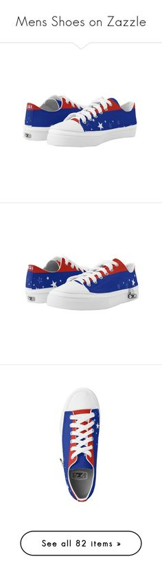 Men\s Shoes on Zazzle by christy-leigh-official on Polyvore featuring women's fashion, shoes, star shoes, stripe shoes, striped shoes, baseball shoes, black and white shoes, black white shoes, baseball footwear and white and black shoes