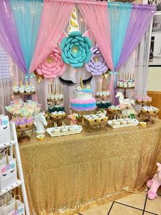 Unicorn decoration 🥰 Birthday girl 🦄 For orders or more details dm us 💌 Party Unicorn, Unicorn Themed Birthday Party, 1st Birthday Party For Girls, Unicorn Birthday Invitations, Birthday Party Themes, 5th Birthday, Birthday Ideas, Unicorn Baby Shower Decorations, Diy Birthday Decorations