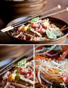 Thai Style Kelp Noodles and Veggies from Rawmazing