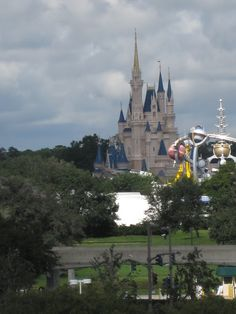 Secret place not in parks for a great pic of castle & Space Mt!