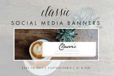 Social Media Banners - Classic by Aylin Marie Designs on @creativemarket