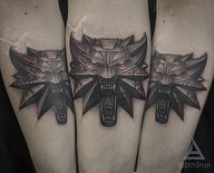 Witcher tattoo by @bth3run