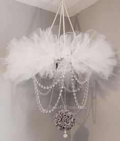 Elegant Tutu Chandelier for Baby Girl's Nursery.