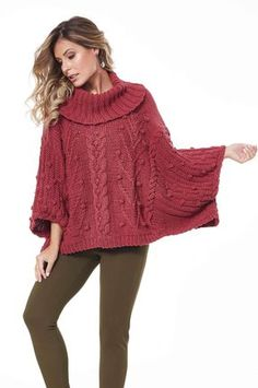 Easy Poncho Knitting Patterns These poncho knitting patterns have been rated straightforward by the designers, or knitters who've made them, or based mostly on their easy direction. Poncho Knitting Patterns, Knitted Poncho, Poncho With Sleeves, Girls Poncho, Knitting Daily, Sewing Clothes, Pull, Ideias Fashion, Knit Crochet