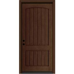 Therma-Tru Benchmark Doors 3/4-Lite Decorative Mahogany Inswing ...