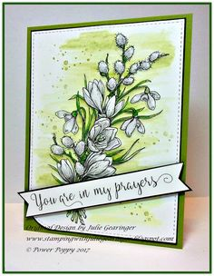Stamping with Julie Gearinger: Power Poppy Winter Pick Me Up
