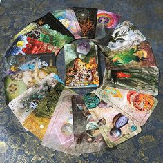 The origins of the Tarot are surrounded with myth and lore. The Tarot has been thought to come from places like India, Egypt, China and Morocco. Others say the Tarot was brought to us fr Oracle Tarot, Oracle Deck, Halloween Vintage, Image Halloween, Mystery, Divination Cards, Images Vintage, Cosmos, Tarot Card Decks