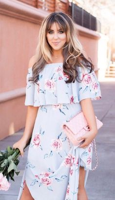 #spring #outfits Today's Look On The Blog 🌸 Floaty Layers And Flower Petals; I Really Love Being A Woman Sometimes.