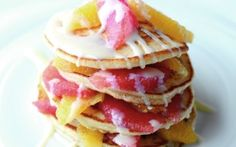 Citrus Drizzle Pancakes