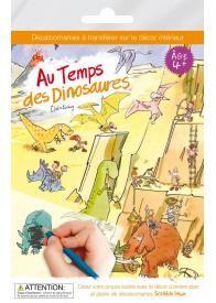 Dans ce kit de décalcomanies Scribble Down (1 décor d'arrière-plan A4 + 1 feuille transparente avec environ 25 décalcos ou transferts), les enfants sont transportés à l'époque des dinosaures ! Humains et dinosaures arriveront - ils à cohabiter ?