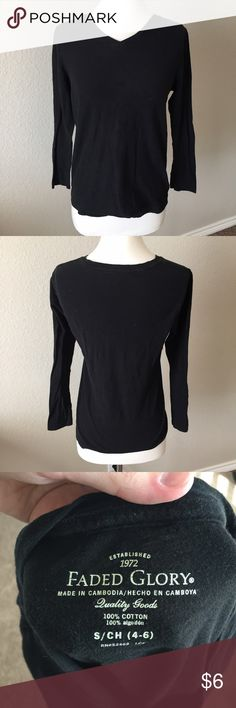 Black Long Sleeve Top (88) Basic black long sleeve. Great for layering. Size small. Gently worn but no flaws. Faded Glory Tops Tees - Long Sleeve