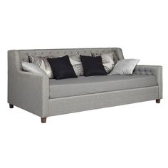 DHP Jordyn Grey Linen Upholstered Daybed - Overstock™ Shopping - Great Deals on DHP Beds