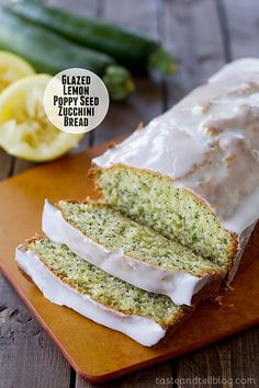 Lemon poppy seed bread and zucchini bread are combined in this easy to make Glazed Lemon Poppy Seed Zucchini Bread.