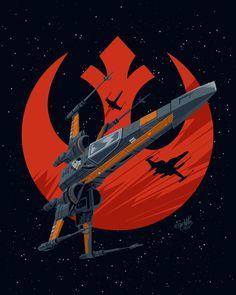 Danny Schlitz - Star Wars Ships - Ideas of Star Wars Ships - Poe Dameron Star Wars Fan Art, Star Wars Meme, Star Wars Rebels, Sw Rebels, Wings Wallpaper, Star Wars Wallpaper, Star Wars Painting, Star Wars Pictures, Star Wars Tattoo