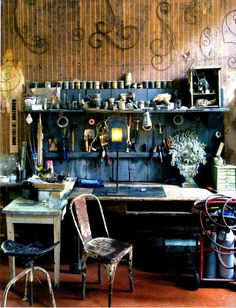 Pascale Palun's workshop...found on chicprovence blogspot com