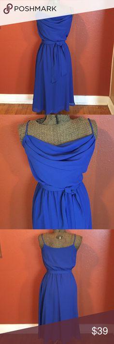 Vintage Ferrali by Phillipe Dress. Size 6 Vintage Ferrali by Phillipe Dress. Size 6. Royal blue color. Excellent condition. Spaghetti straps. Elastic waist. Self tie. Vintage Dresses