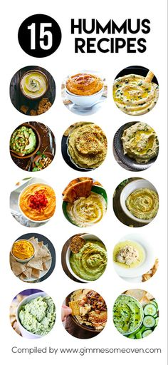 15 Hummus Recipes -- from creative to classic, these creamy dreamy hummus recipes are sure to be crowd favorites. Healthy Hummus Recipe, Healthy Snacks, Healthy Eating, Homemade Hummus, Think Food, Love Food, Vegetarian Recipes, Cooking Recipes, Healthy Recipes