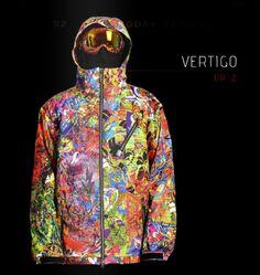 Vertigo - Snowboard/Ski Jacket designed by DrZ for FUEL Clothing Mens Ski Wear, Snowboarding Style, Snow Gear, Mens Skis, Ski Goggles, Snow Skiing, Indie Brands, Sweater Jacket, Mp3 Player