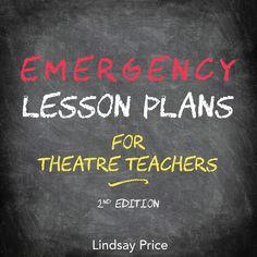 Emergency Lesson Plans for Theatre Teachers, Edit. Drama Teacher, Drama Class, Drama Drama, Drama Activities, Drama Games, Middle School Drama, Drama Education, Teaching Theatre, Substitute Teacher