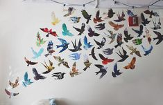 Bird Mural from Magazine Pages