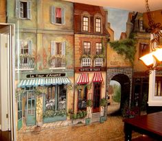 This is a cool mural of France.   cafe full2.jpg (1337×1170)
