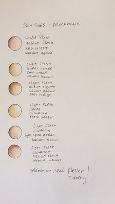 My Prismacolor Skin Tone Color Palette by ArtisticAdventures ...