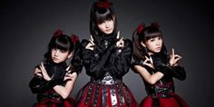 """a trio of Japanese teen girl pop stars, choreographed dance moves and all, and have them sing over hard-charging death metal riffs. Oh my!! I actually think it pretty great in as a critic review said """"Babymetal is kind of like a magical, leather-clad, fire-breathing, sonic unicorn""""..By Aaron Sankin in The Daily dot"""